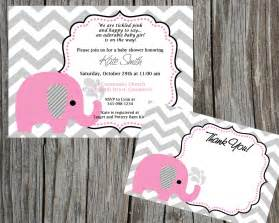 pink baby shower invitations pink elephant baby shower invitations plumegiant