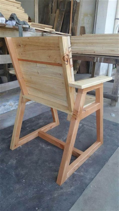 diy pallet chair pallet chair with trapezoid legs 99 pallets