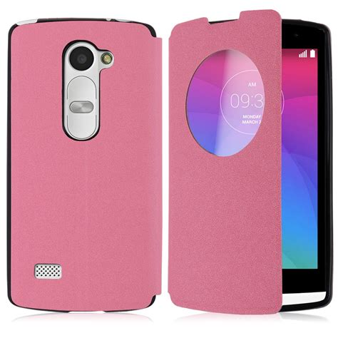 Flipcase Lg D682 circle view window leather flip stand cover for lg 4g lte h340n ebay