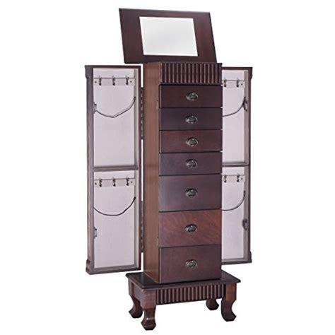 giantex jewelry cabinet armoire box storage chest stand