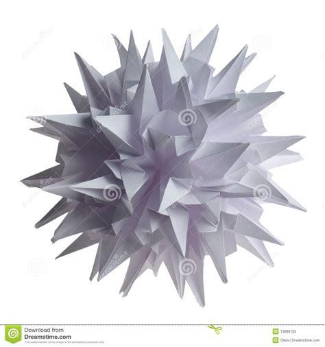 Virus Origami - origami kusudama virus stockfoto bild kugel