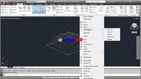 basic autocad tutorial youtube autocad basic nurbs editing tutorial youtube