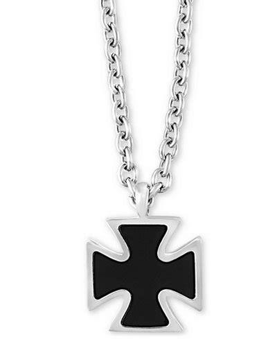 effy 174 s onyx 19mm celtic cross pendant necklace in