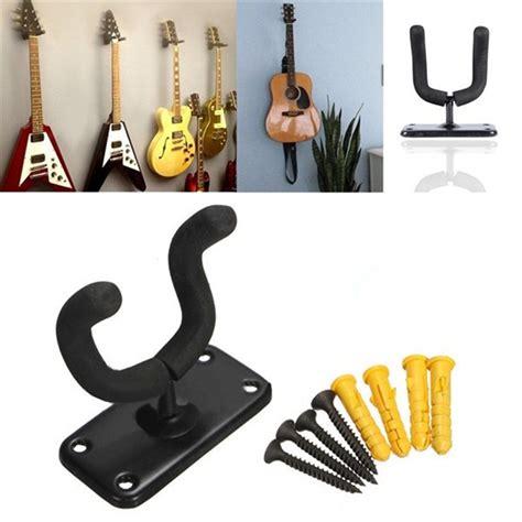 Wall Stand Guitar Gantung Hanger Gitar Bass Ukulele Acoustic Electric aliexpress buy bass guitar hanger hook holder