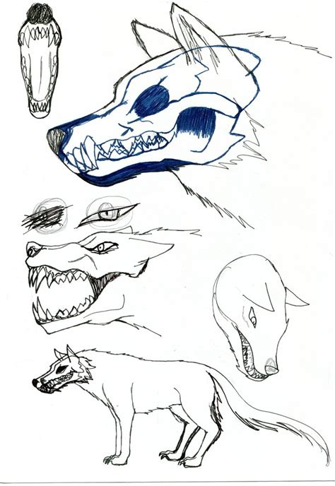 wolf sketch by loletabittersweet on deviantart