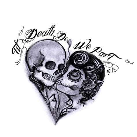 skull couple tattoo i don t like skulls never but something about this i