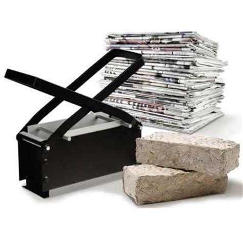 Make Paper Bricks - bark brick makers paper briquette log maker