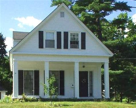 One And A Half Story Floor Plans Greek Revival 1820 1850 Old House Web