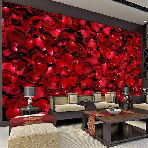 petals room decoration aliexpress buy petals wall mural 3d photo wallpaper wallpaper