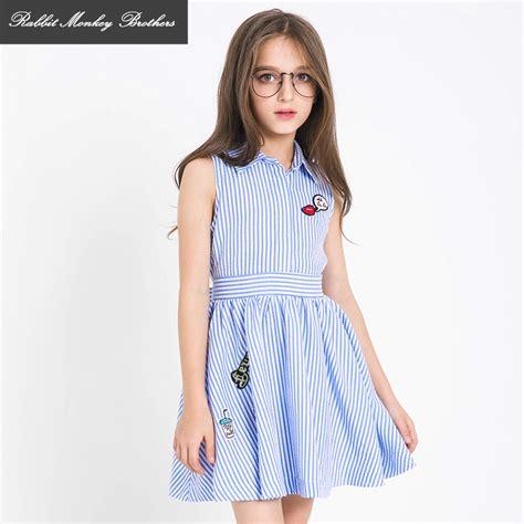 Dress Anak 7 8tahun aliexpress buy summer dress 2017 new children princess dress fashion striped