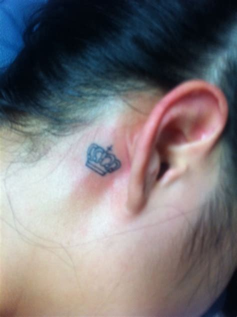 girl crown tattoos crown the ear you
