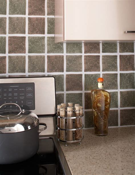 my new backsplash for my kitchen gotta peel and