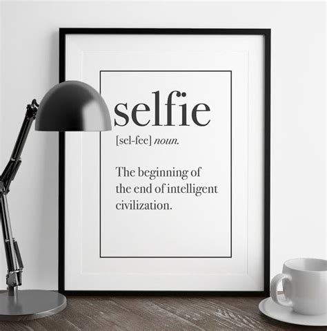 home decor definition selfie definition print man cave decor art print