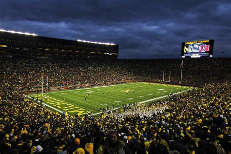 soccer game at the big house sportsmonday column i tried out for the michigan football team the michigan daily
