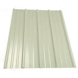 metal sales 8 ft classic rib steel roof panel in white