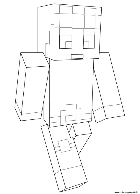 Coloring Pages Minecraft Dantdm | minecraft dantdm coloring pages printable