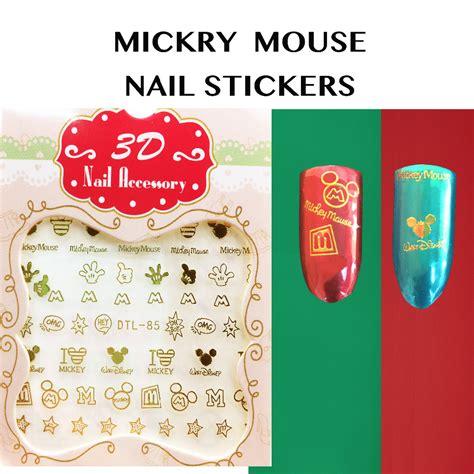 Nail Sticker Stiker Kuku Nail 3 tessie shop mickey mouse nail 3d nail stickers nail decals cinderella princess