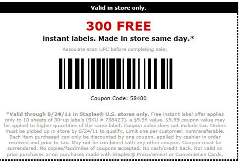 printable labels at staples staples free in store instant labels kroger krazy