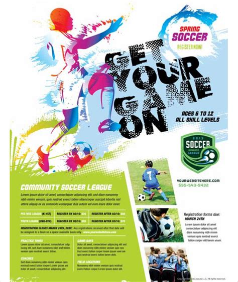 soccer poster template soccer flyer template www pixshark images