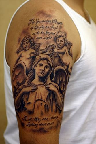 angel tattoo designs for men sleeves design baby designs