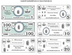 classroom money template classroom money system on