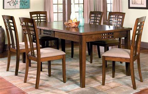 rich walnut dining room set casual dinette sets