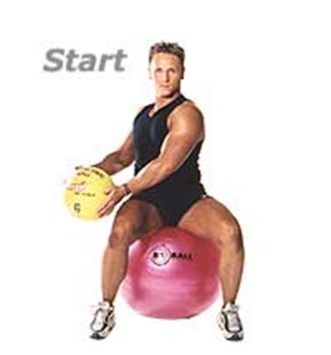seated reverse wood chop  medicine ball