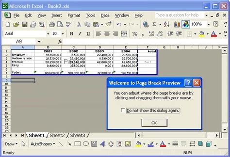 layout excel 2003 swotster excel 2003 setting up the quot spreadsheet quot layout