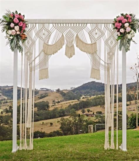 Wedding Arch Is Called by A Macrame Wedding Backdrop Is The Best Way To Reuse Decor
