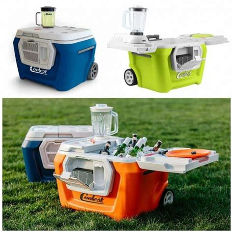 rolling cooler with built in picnic table rolling cooler with picnic table and chairs the whoot