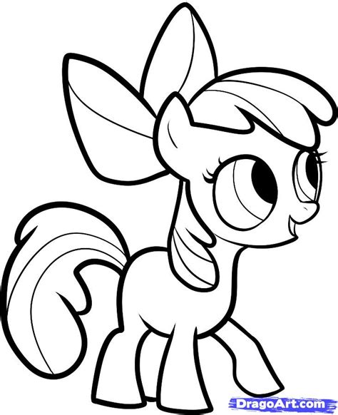 how to draw apple bloom apple bloom my little pony step