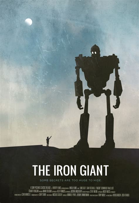 the iron giant the geeky nerfherder movie poster art the iron giant 1999