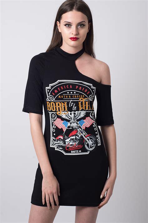 Stylish Shirt Dresses by Stylish Cut Out Shoulder T Shirt Dress Stylish Dresses