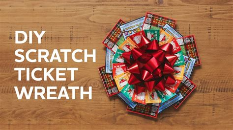 christmas trees decorated with scratch tickets how to make a wreath with scratch tickets