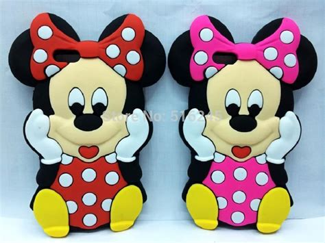 Softcase List Mickey Minnie Mouse Soft Cover Casing Iphone 4 4s 3d minnie mickey mouse with bow silicone soft back cover for apple iphone 6