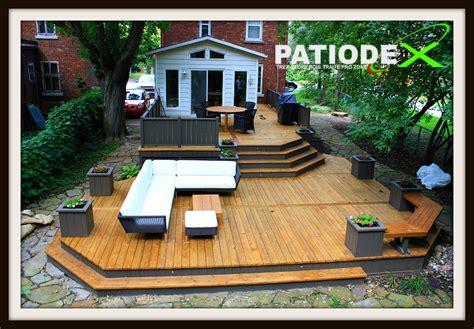 Patio Design Rive Sud Trex Patio Terrease Bois Sans Entretien Plan Modele