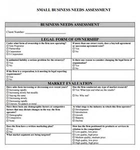 needs assessment template business needs assessment template pdf