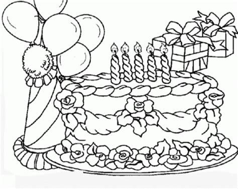 coloring pictures of birthday cakes and balloons balloons coloring pages birthday cake and balloons