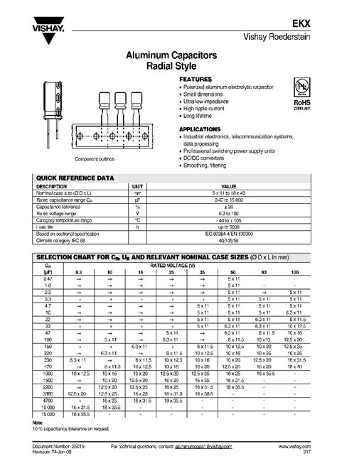 capacitor datasheet pdf malrekx00fe433b00k 4492246 pdf datasheet ic on line