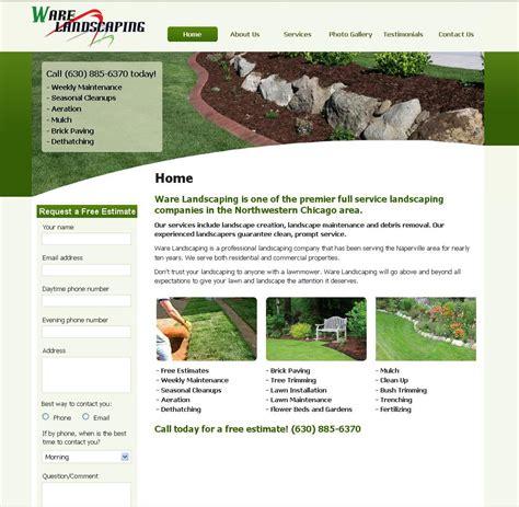 landscaping websites professional websites response targeted marketing