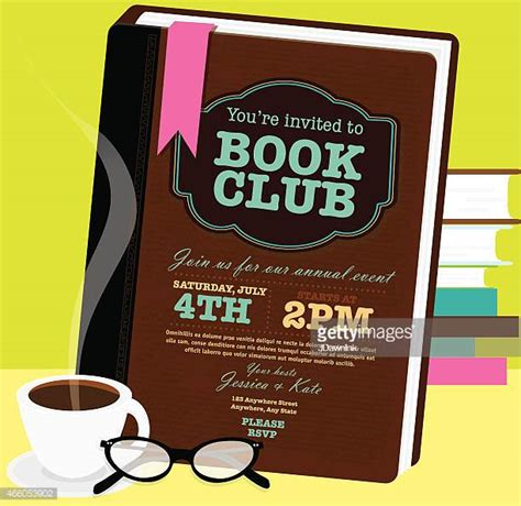 book club invitation template book club stock illustrations and getty images