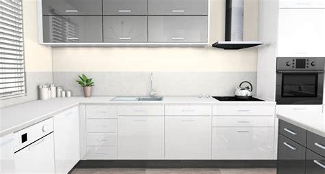 cuisine laqu馥 grise beau cuisine blanche et grise et cuisine blanc laque et