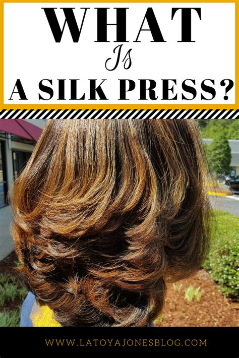 what is a silk press latoya jones