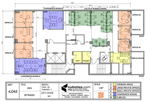 floor plan of an office office layout plan with 3 common areas officelayout