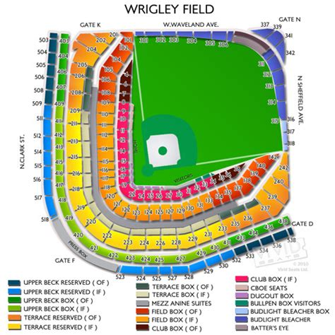 chicago cubs stadium seating chart chicago map wrigley field