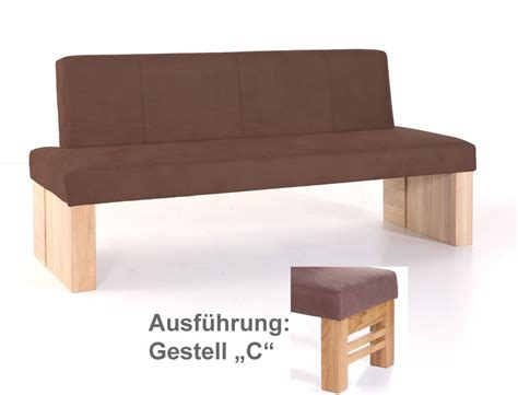gestell sitzbank hochwertige sitzbank mit lehne polsterbank massivholz bank
