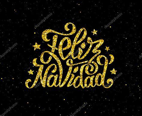 imagenes de navidad brillantes feliz navidad oro brillantes letras de dise 241 o vector de