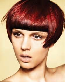 stylish colouredbob hairstyles for bob with fringe as red hair color ideas for women