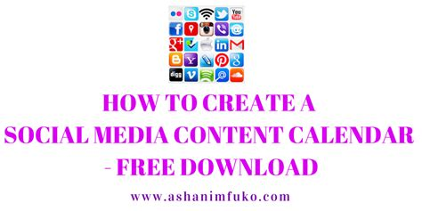 how to make a social media calendar how to create a social media calendar free