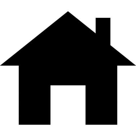 Small Home Icon Images Small House With Chimney Silhouette Icons Free